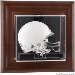 LSU Tigers Brown Framed Wall-Mountable Mini Helmet Display Case
