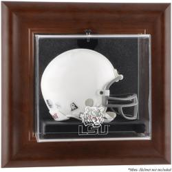 LSU Tigers Brown Framed Wall-Mountable Mini Helmet Display Case