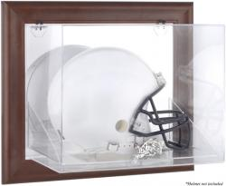 Navy Midshipmen Brown Framed Wall-Mountable Helmet Display Case