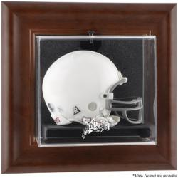 Navy Midshipmen Brown Framed Wall-Mountable Mini Helmet Display Case