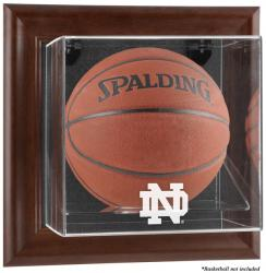 Notre Dame Fighting Irish Brown Framed Wall-Mountable Basketball Display Case - Mounted Memories