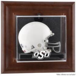 Oklahoma State Cowboys Brown Framed Wall-Mountable Mini Helmet Display Case