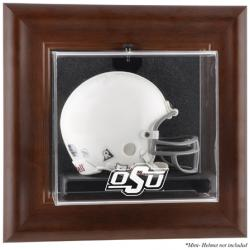 Oklahoma State Cowboys Brown Framed Wall-Mountable Mini Helmet Display Case