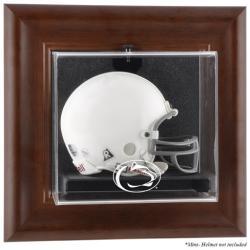 Penn State Nittany Lions Brown Framed Wall-Mountable Mini Helmet Display Case