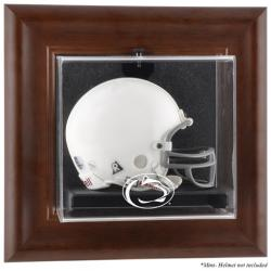 Penn State Nittany Lions Brown Framed Wall-Mountable Mini Helmet Display Case