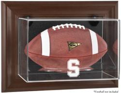 Stanford Cardinal Brown Framed Wall-Mountable Football Display Case - Mounted Memories