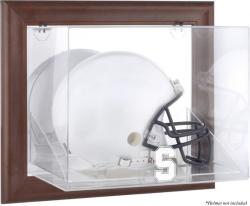 Stanford Cardinal Brown Framed Wall-Mountable Helmet Display Case