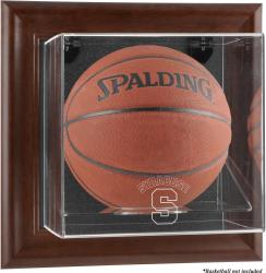 Syracuse Orange Brown Framed Wall-Mountable Basketball Display Case