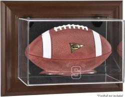 Syracuse Orange Brown Framed Wall-Mountable Football Display Case
