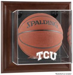 TCU Horned Frogs Brown Framed Wall-Mountable Basketball Display Case