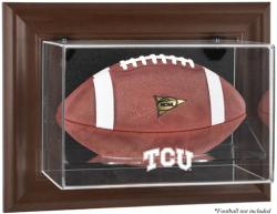 TCU Horned Frogs Brown Framed Wall-Mountable Football Display Case