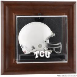 TCU Horned Frogs Brown Framed Wall-Mountable Mini Helmet Display Case