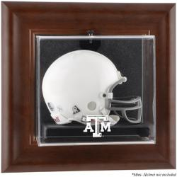 Texas A&M Aggies Brown Framed Wall-Mountable Mini Helmet Display Case