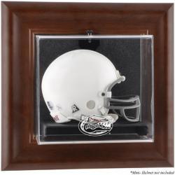 Florida Gators Brown Framed Wall-Mountable Mini Helmet Display Case