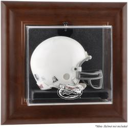 Florida Gators Brown Framed Wall-Mountable Mini Helmet Display Case
