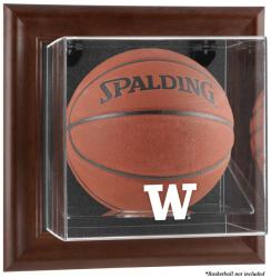 Washington Huskies Brown Framed Wall-Mountable  Basketball Display Case