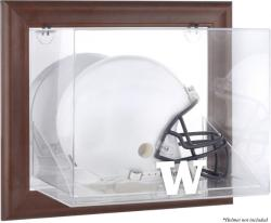 Washington Huskies Brown Framed Wall-Mountable Helmet Display Case