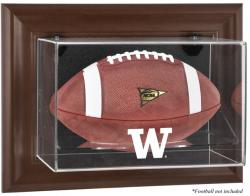 Washington Huskies Brown Framed Wall-Mountable Football Display Case
