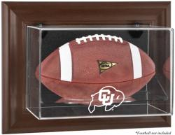 Colorado Buffaloes Brown Framed Wall-Mountable Football Display Case - Mounted Memories