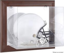 Colorado Buffaloes Brown Framed Wall-Mountable Helmet Display Case