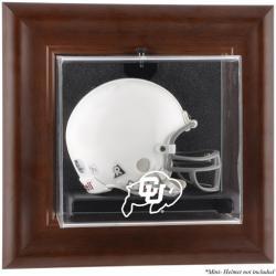 Colorado Buffaloes Brown Framed Wall-Mountable Mini Helmet Display Case