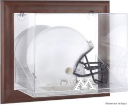 Minnesota Golden Gophers Brown Framed Wall-Mountable Helmet Display Case