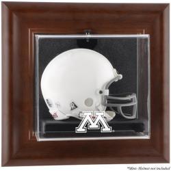 Minnesota Golden Gophers Brown Framed Wall-Mountable Mini Helmet Display Case