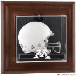 Minnesota Golden Gophers Brown Framed Wall-Mountable Mini Helmet Display Case