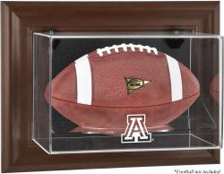 Arizona Wildcats Brown Framed Wall-Mountable Football Display Case