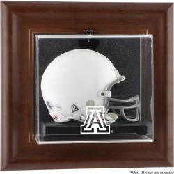 Arizona Wildcats Brown Framed Wall-Mountable Mini Helmet Display Case - Mounted Memories
