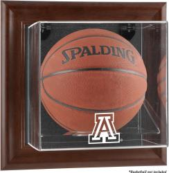 Arizona Wildcats Brown Framed Wall-Mountable Basketball Display Case - Mounted Memories