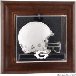 Georgia Bulldogs Brown Framed Wall-Mountable Mini Helmet Display Case