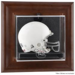 South Carolina Gamecocks Brown Framed Wall-Mountable Mini Helmet Display Case
