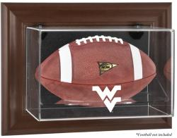 West Virginia Mountaineers Brown Framed Wall-Mountable Football Display Case