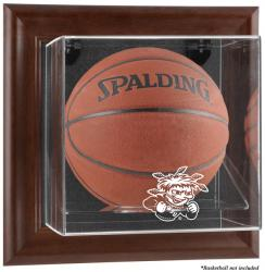 Wichita State Shockers Brown Framed Wall Mountable Basketball Display Case