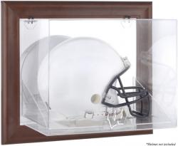 Wisconsin Badgers Brown Framed Wall-Mountable Helmet Display Case
