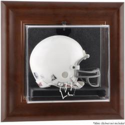 Wisconsin Badgers Brown Framed Wall-Mountable Mini Helmet Display Case