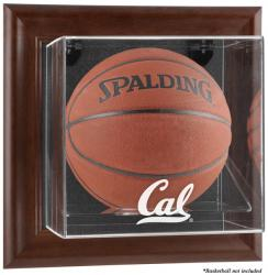California Bears Brown Framed Wall-Mountable Basketball Display Case - Mounted Memories