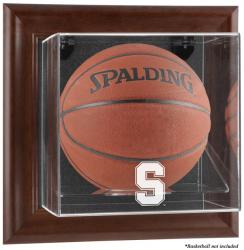 Stanford Cardinal Brown Framed Wall-Mountable Basketball Display Case - Mounted Memories