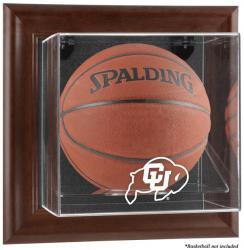 Colorado Buffaloes Brown Framed Wall-Mountable Basketball Display Case