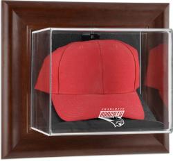 Charlotte Bobcats Team Logo Brown Framed Wall-Mounted Cap Case