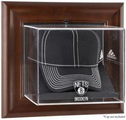 NBA Brooklyn Nets Brown Framed Wall-Mounted Cap Display Case