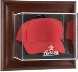 Houston Astros Brown Framed Wall-Mounted Logo Cap Case - Mounted Memories