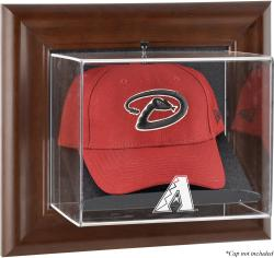 Arizona Diamondbacks Brown Framed Wall-Mounted Logo Cap Case