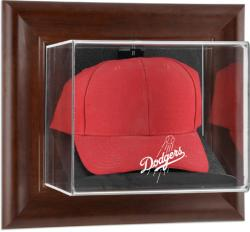 Los Angeles Dodgers Brown Framed Wall-Mounted Logo Cap Case - Mounted Memories