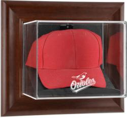Baltimore Orioles Brown Framed Wall-Mounted Logo Cap Case - Mounted Memories