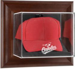 Baltimore Orioles Brown Framed Wall-Mounted Logo Cap Case