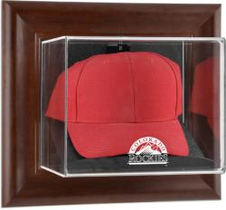 Colorado Rockies Brown Framed Wall-Mounted Logo Cap Case - Mounted Memories