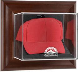 Colorado Rockies Brown Framed Wall-Mounted Logo Cap Case