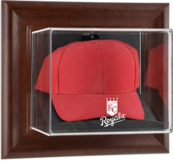 Kansas City Royals Brown Framed Wall-Mounted Logo Cap Case - Mounted Memories